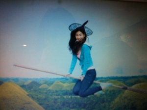 Me flying solo over the chocolate hills