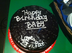 Thanks for my cake Baby!