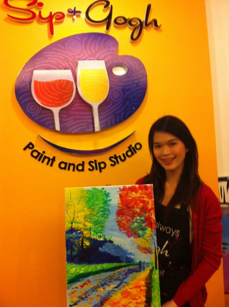 Zel with her masterpiece.