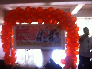 Orange balloons for the College of Education