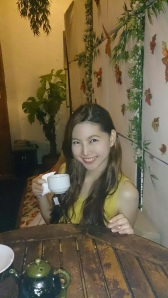 Hot brewing chamomile tea after the massage