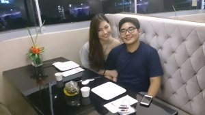 Me and this cutie with our full course dinner for tonight