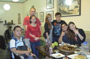 The Dinner with his friends in Morato