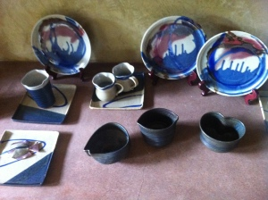 Some of their pottery items being sold