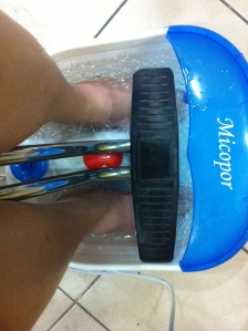 My feet in their foot spa! :D Such a treat to myself! :D