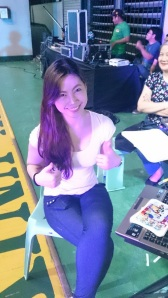 Me manning the booth. Thanks for this photo Pat :D