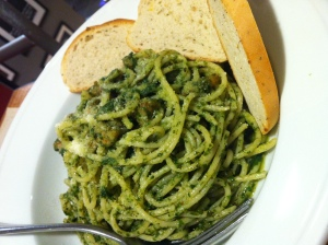 """My Love's order. One of his favorite dishes """"Pesto Pasta"""""""