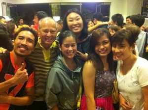 My pretty office mates with the cast