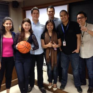 The Team with the head of Alaska Aces who served as our guest speaker in class
