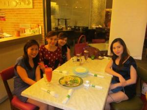Me and my friends dining at Sweet Pea
