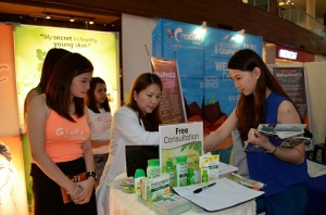 Having a skin consultation with the Glutathione experts