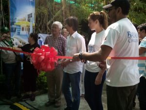 Arch Angel Center Ribbon Cutting with Mr. Archie King, Mr. Tony Meloto and Georgina Wilson