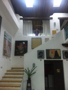 High ceilings and winding staircases