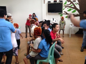 Playing musical chairs with the kids