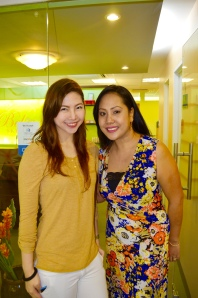Me and the Owner Ms. Michelle Acero. Thank you so much for this invite. Congratulations on this new branch :D