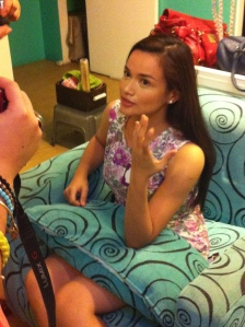 Yasmien doling out her two cents worth of make up tips and advice