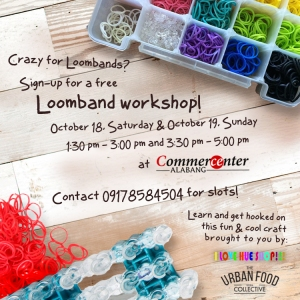 There will also be an interactive loom band making workshop for all you loom band holics out there