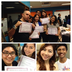 Photo I posted in my Instagram account documenting this experience. We were all smiles posing with our certificates.