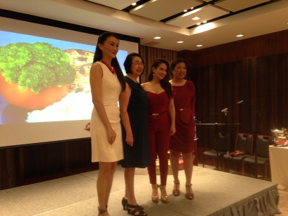 Marina Benipayo with Regine Tolentno and the Fisher Farms Executives and Higher Ups