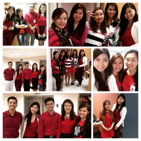 One of the Highlights of this week. Celebrating our Wear Red Day