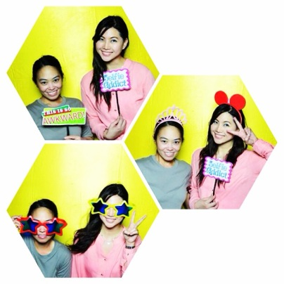 Photo of me and Ate Niz playing around the booth as we were the first ones to test the prints :)