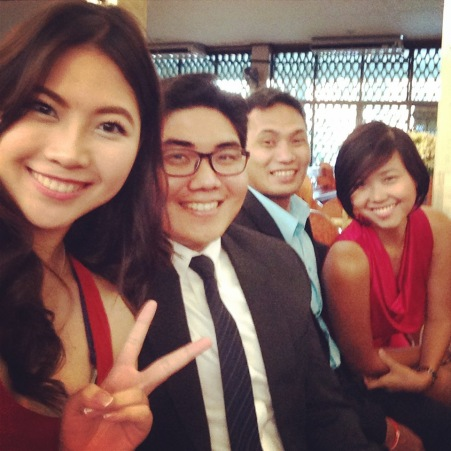 We were seated beside Ace and his lovely girlfriend Sarah :)