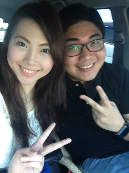 On the way to Tagaytay with my partner in crime :)