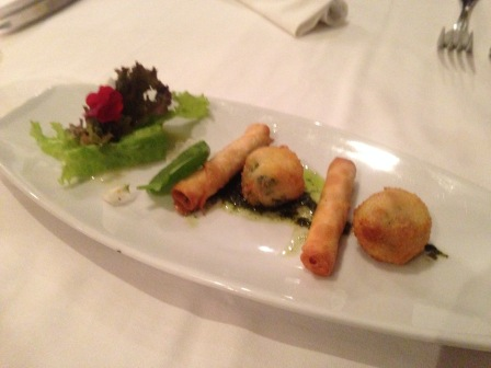Cheeserolls were also served as their complimentary dish