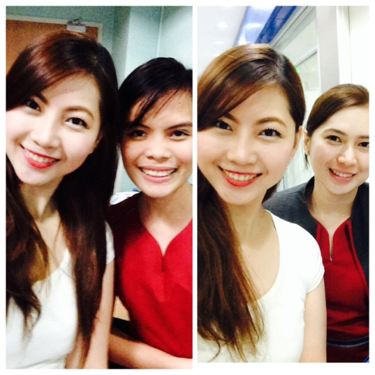 We with my friends from SLMC while waiting for P