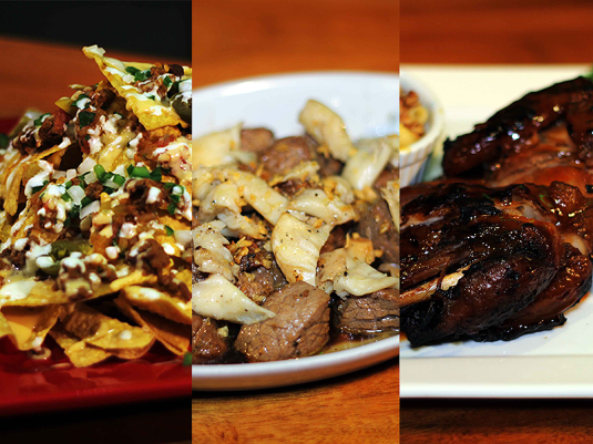 Delicious appetizers and sizzling plates all night