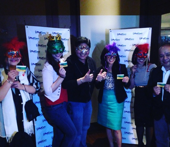 Us with their Top Ranking Executives who gamely posed with us as we all donned our masks that night for the grand unveiling of the NFC Card :)