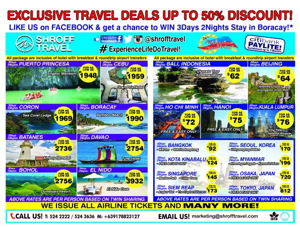SHROFF TRAVEL Domestic & International Tour Promos for PTM 2015 (FINAL)