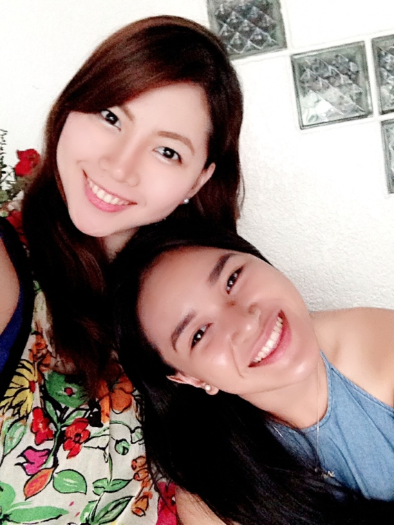 Me and my cousin taking a selfie during one of our Family Lunches over at my uncle's crib :)