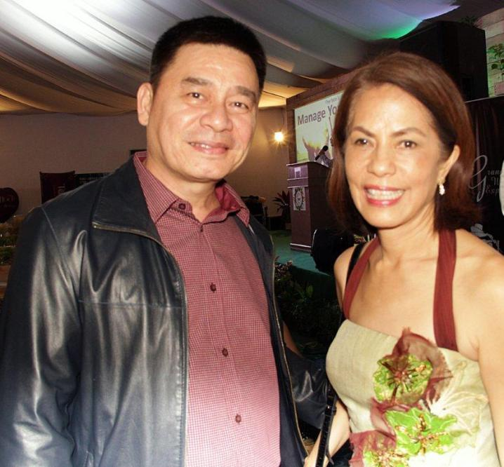 Photo shows ABS-CBN Lingkod Kapamilya Foundation Inc. chairperson Gina Lopez (R) and Antonio Crisanto (L), general manager of BrightRay Enterprises.