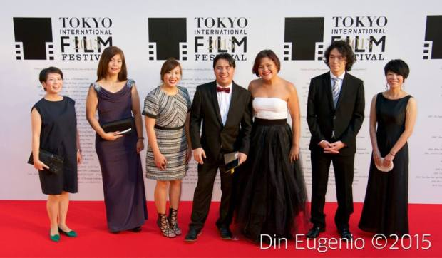 The team behind the film Imbisibol by Lawrence Fajardo (middle) at the 28th Tokyo International Film Festival (2)